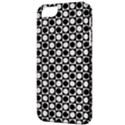 Modern Dots In Squares Mosaic Black White Apple iPhone 5 Classic Hardshell Case View3