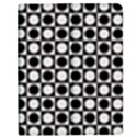 Modern Dots In Squares Mosaic Black White Apple iPad 2 Flip Case View1