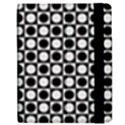 Modern Dots In Squares Mosaic Black White Apple iPad 2 Flip Case View2