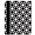 Modern Dots In Squares Mosaic Black White Apple iPad 2 Flip Case View3