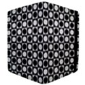 Modern Dots In Squares Mosaic Black White Apple iPad 2 Flip Case View4