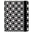 Modern Dots In Squares Mosaic Black White Apple iPad Mini Flip Case View2