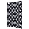Modern Dots In Squares Mosaic Black White Apple iPad Mini Hardshell Case View3