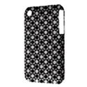 Modern Dots In Squares Mosaic Black White Apple iPhone 3G/3GS Hardshell Case (PC+Silicone) View3
