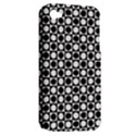 Modern Dots In Squares Mosaic Black White Apple iPhone 4/4S Hardshell Case (PC+Silicone) View2