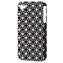 Modern Dots In Squares Mosaic Black White Apple iPhone 4/4S Hardshell Case (PC+Silicone) View3