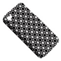 Modern Dots In Squares Mosaic Black White Apple iPhone 4/4S Hardshell Case (PC+Silicone) View5