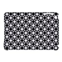 Modern Dots In Squares Mosaic Black White Apple iPad Mini Hardshell Case (Compatible with Smart Cover) View1