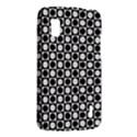 Modern Dots In Squares Mosaic Black White LG Nexus 4 View2