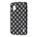 Modern Dots In Squares Mosaic Black White LG Nexus 4 View3