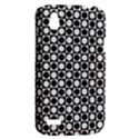 Modern Dots In Squares Mosaic Black White HTC Desire V (T328W) Hardshell Case View2