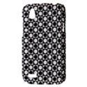 Modern Dots In Squares Mosaic Black White HTC Desire V (T328W) Hardshell Case View3