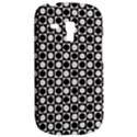 Modern Dots In Squares Mosaic Black White Samsung Galaxy S3 MINI I8190 Hardshell Case View2
