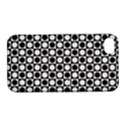 Modern Dots In Squares Mosaic Black White Apple iPhone 4/4S Hardshell Case with Stand View1