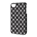 Modern Dots In Squares Mosaic Black White Apple iPhone 4/4S Hardshell Case with Stand View3