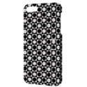 Modern Dots In Squares Mosaic Black White Apple iPhone 5 Hardshell Case with Stand View3
