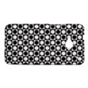 Modern Dots In Squares Mosaic Black White HTC One M7 Hardshell Case View1