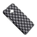 Modern Dots In Squares Mosaic Black White HTC One M7 Hardshell Case View5