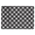 Modern Dots In Squares Mosaic Black White Samsung Galaxy Tab 10.1  P7500 Flip Case View1
