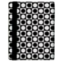 Modern Dots In Squares Mosaic Black White Samsung Galaxy Tab 10.1  P7500 Flip Case View2