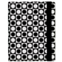 Modern Dots In Squares Mosaic Black White Samsung Galaxy Tab 10.1  P7500 Flip Case View3