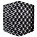 Modern Dots In Squares Mosaic Black White Samsung Galaxy Tab 10.1  P7500 Flip Case View4
