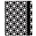Modern Dots In Squares Mosaic Black White Samsung Galaxy Tab 8.9  P7300 Flip Case View2