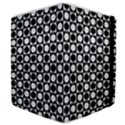 Modern Dots In Squares Mosaic Black White Samsung Galaxy Tab 8.9  P7300 Flip Case View4