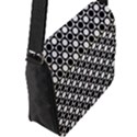Modern Dots In Squares Mosaic Black White Flap Messenger Bag (L)  View2