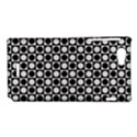Modern Dots In Squares Mosaic Black White Sony Xperia J View1