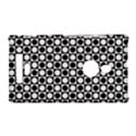 Modern Dots In Squares Mosaic Black White Nokia Lumia 925 View1