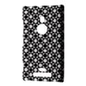 Modern Dots In Squares Mosaic Black White Nokia Lumia 925 View3