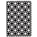 Modern Dots In Squares Mosaic Black White iPad Mini 2 Flip Cases View1