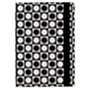 Modern Dots In Squares Mosaic Black White iPad Mini 2 Flip Cases View2