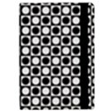 Modern Dots In Squares Mosaic Black White iPad Air Flip View2