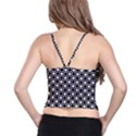 Modern Dots In Squares Mosaic Black White Spaghetti Strap Bra Top View2