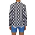 Modern Dots In Squares Mosaic Black White Kids  Long Sleeve Swimwear View2