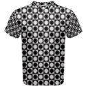 Modern Dots In Squares Mosaic Black White Men s Cotton Tee View1