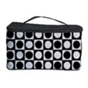 Modern Dots In Squares Mosaic Black White Cosmetic Storage Case View1