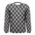Modern Dots In Squares Mosaic Black White Men s Long Sleeve Tee View1