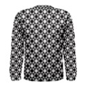 Modern Dots In Squares Mosaic Black White Men s Long Sleeve Tee View2