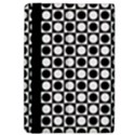 Modern Dots In Squares Mosaic Black White iPad Air 2 Flip View4