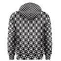 Modern Dots In Squares Mosaic Black White Men s Pullover Hoodie View2