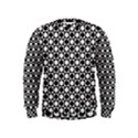 Modern Dots In Squares Mosaic Black White Kids  Sweatshirt View1