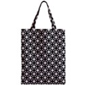Modern Dots In Squares Mosaic Black White Zipper Classic Tote Bag View1