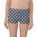 Modern Dots In Squares Mosaic Black White Boyleg Bikini Bottoms View1