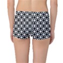 Modern Dots In Squares Mosaic Black White Boyleg Bikini Bottoms View2