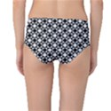 Modern Dots In Squares Mosaic Black White Mid-Waist Bikini Bottoms View2