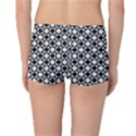 Modern Dots In Squares Mosaic Black White Reversible Boyleg Bikini Bottoms View2