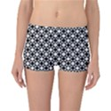 Modern Dots In Squares Mosaic Black White Reversible Boyleg Bikini Bottoms View3